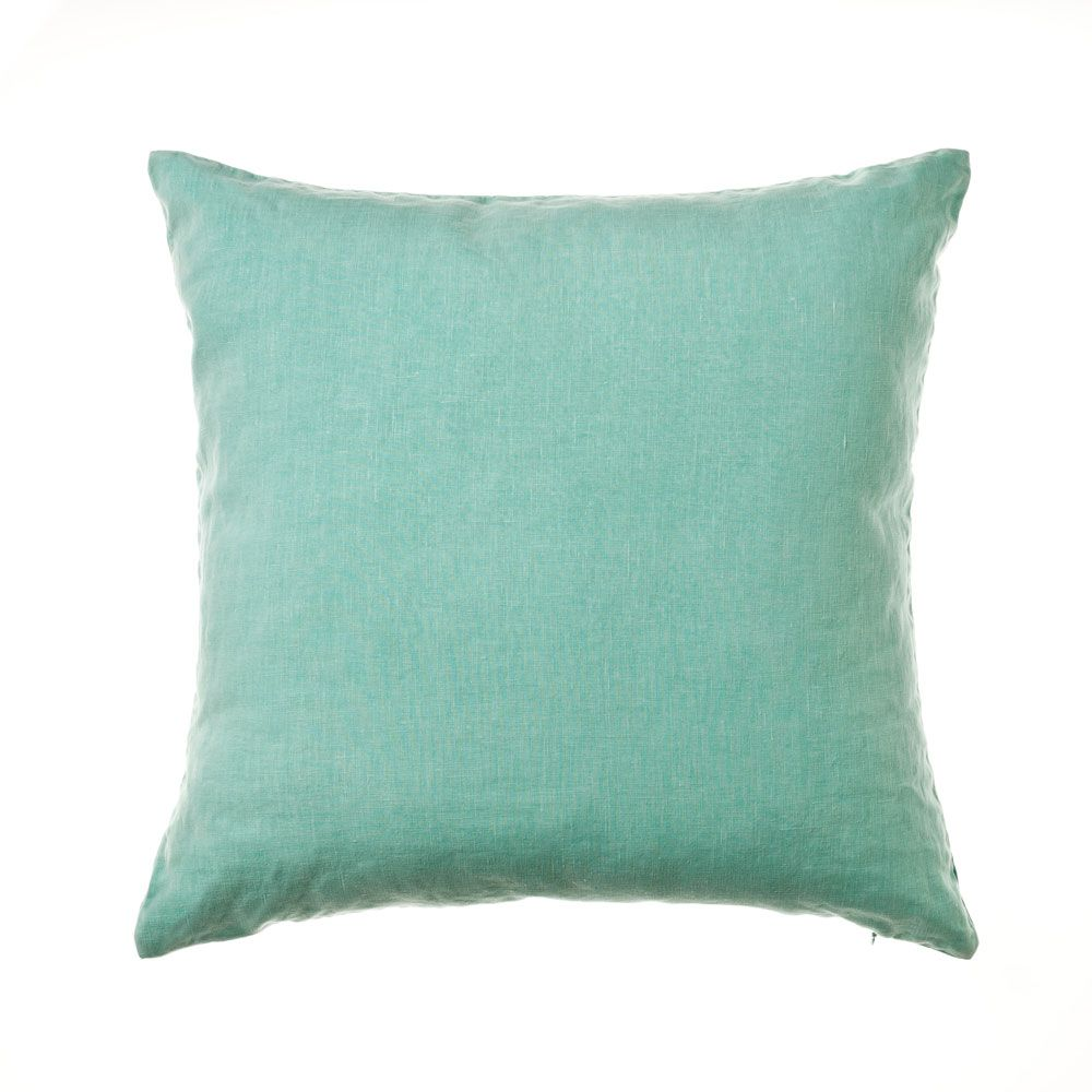 Home Republic Vintage Washed Linen Spearmint - Soft Furnishings Cushions - Adairs Online
