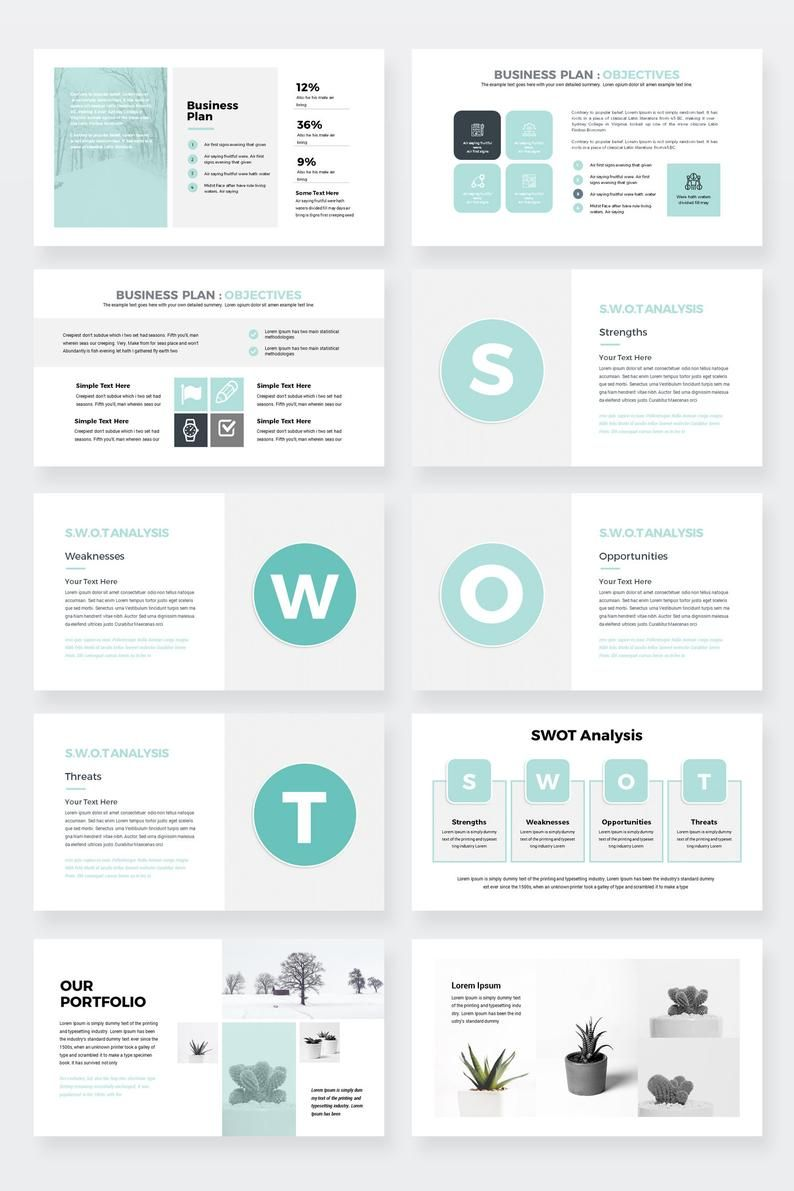 Modern Business Plan PowerPoint Template, Editable power