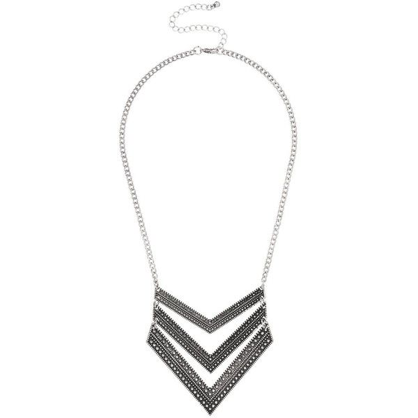 maurices Layered Chevron Necklace ($16) ❤ liked on Polyvore featuring jewelry, necklaces, silver, chevron necklace, layered necklace, maurices, multi layered necklace and maurice jewelry