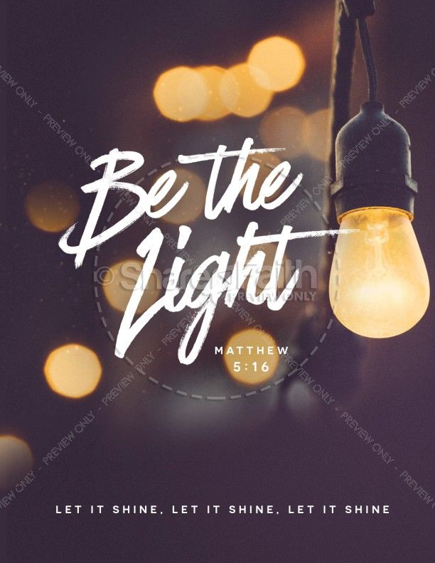 Be The Light Church Flyer Template Churches Template And Lights