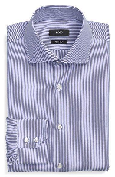 BOSS 'Gerald' WW Regular Fit Easy Iron Stripe Dress Shirt