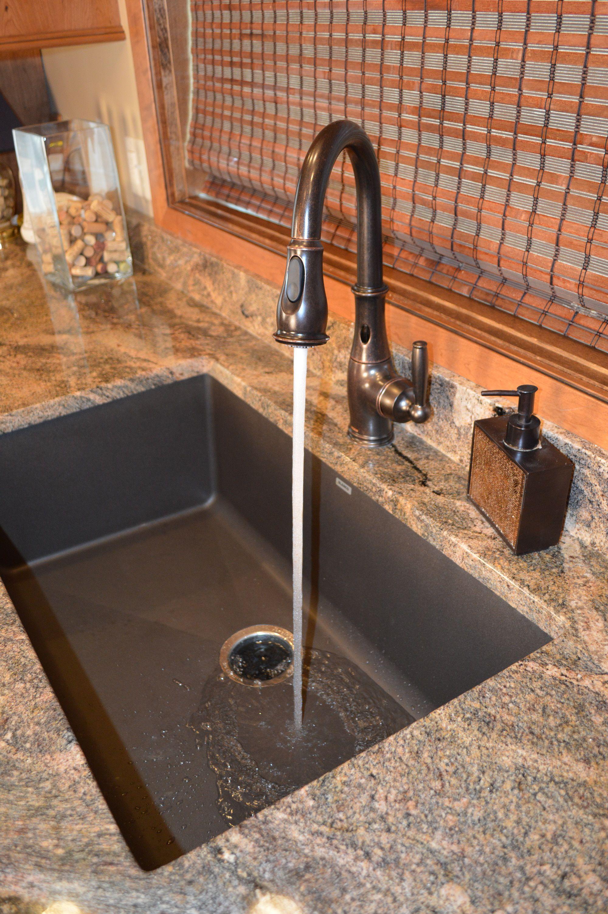 Large Single Bowl Silgranit Kitchen Sink By Blanco Gives Drama To