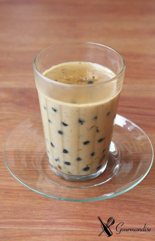 Black tapioca pudding