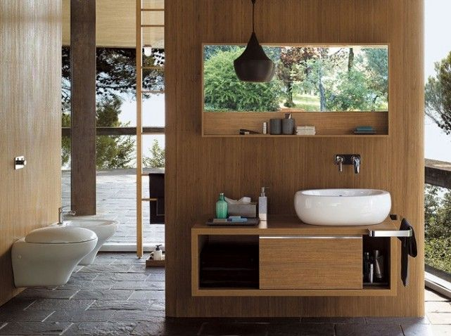 1000 images about salle de bain on pinterest freestanding bathtub italian bathroom and a m - Decoration Salle De Bain Bambou