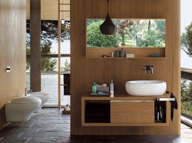 Salle de bains zen et spacieuse #deco #bain | Salle de b ...