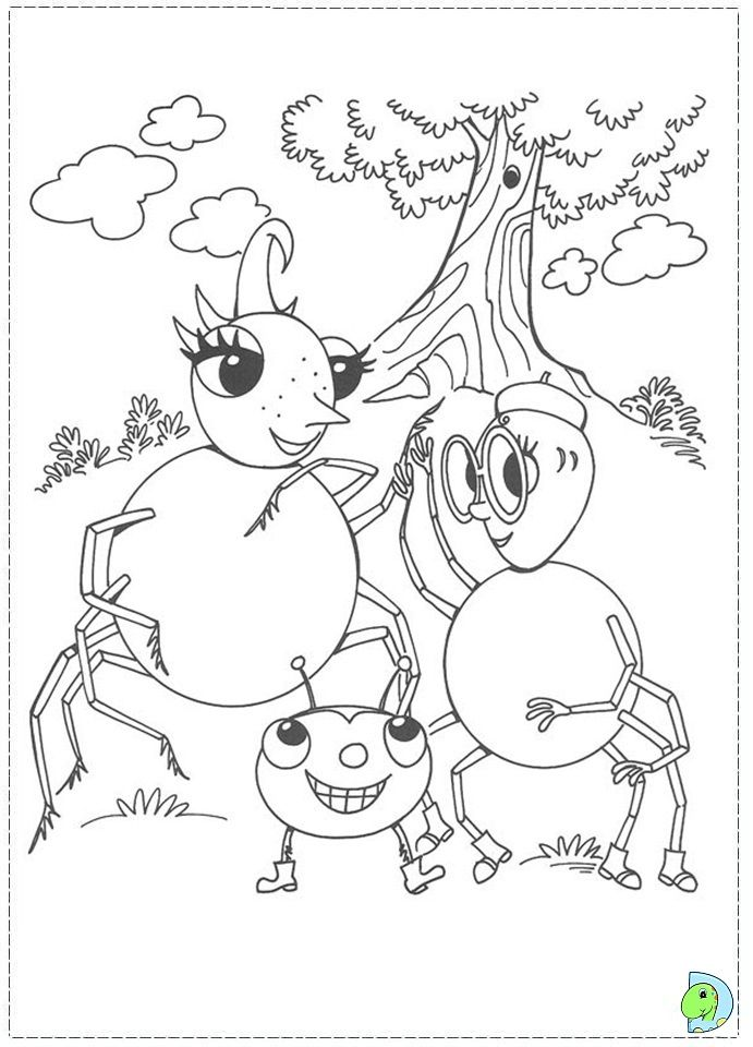 miss spider coloring pages