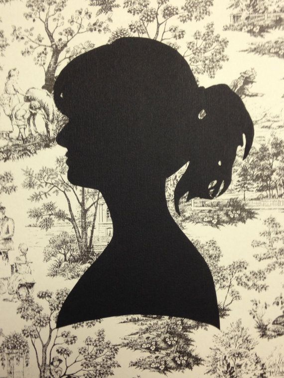 Hand Cut Silhouette Portraits by TimelessSilhouettes on Etsy, $25.00