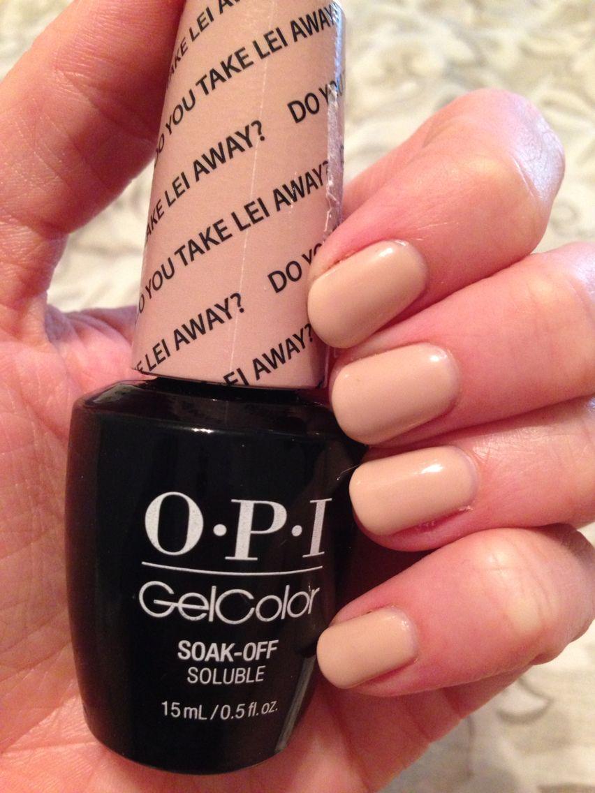 OPI Gelcolor Do You Take Lei Away, 3 coats   Nails   Pinterest