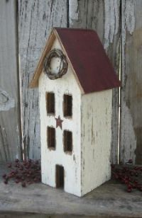 Lighted Saltbox Houses Beth S Country Primitive Home Decor