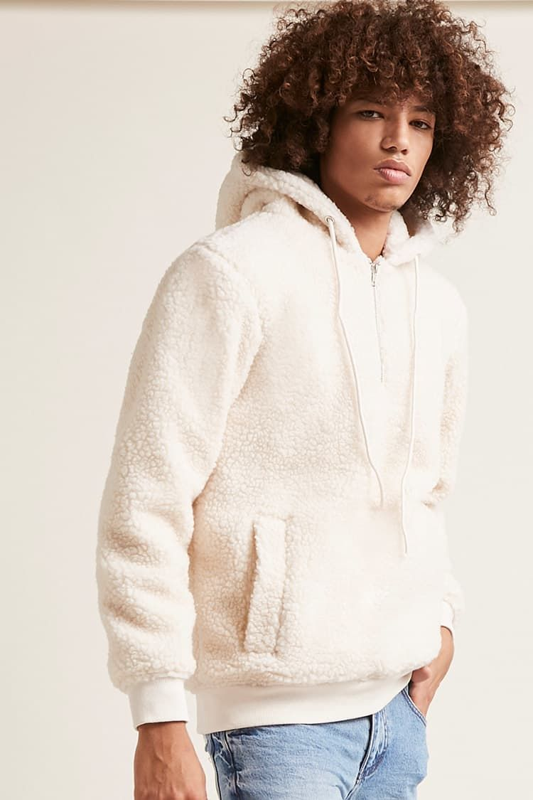 f56eaf70d Kinda Into Borg RN   Product Name:Faux Shearling Hoodie, Category:mens-