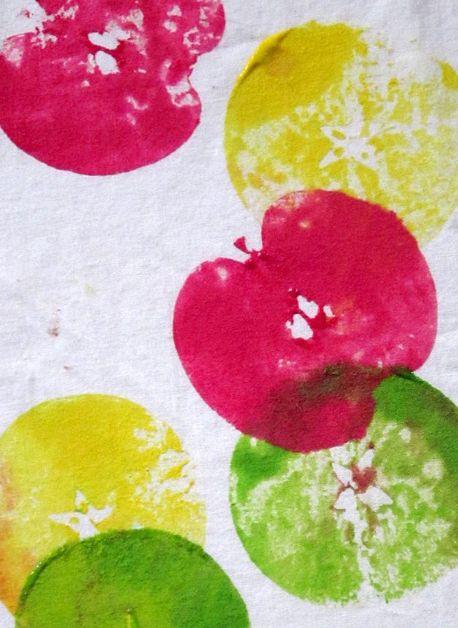 Tableau Empreinte De Pommes Ps, Creative activities and Arts