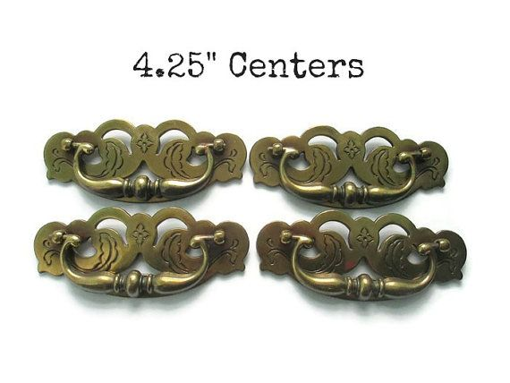 Clearance Lots Of 4 Vintage Drawer Pulls 4 25 Centers Furniture Handles 4 1 4 On Center Vintage Drawers Vintage Drawer Pulls Drawer Pulls Drawer pulls 2.5 inch hole spacing