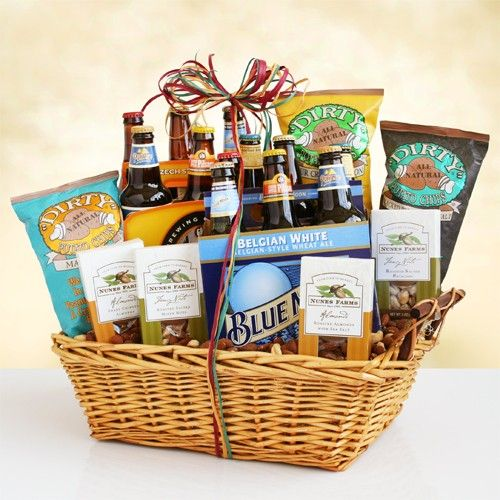 guys beer gift basket...great for groomsmen or any guy gift ...