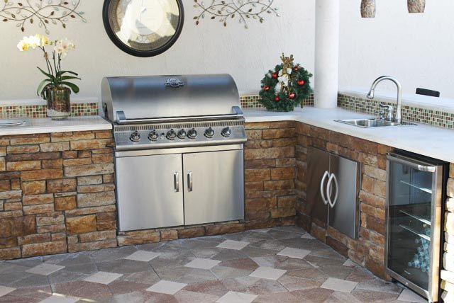 Centurion Stone Outdoor Kitchen Outdoor Kitchen Stone Siding Exterior Hardscape Design