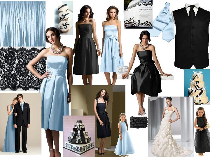 Black White An Ice Blue Pantone Wedding Styleboard The Dessy