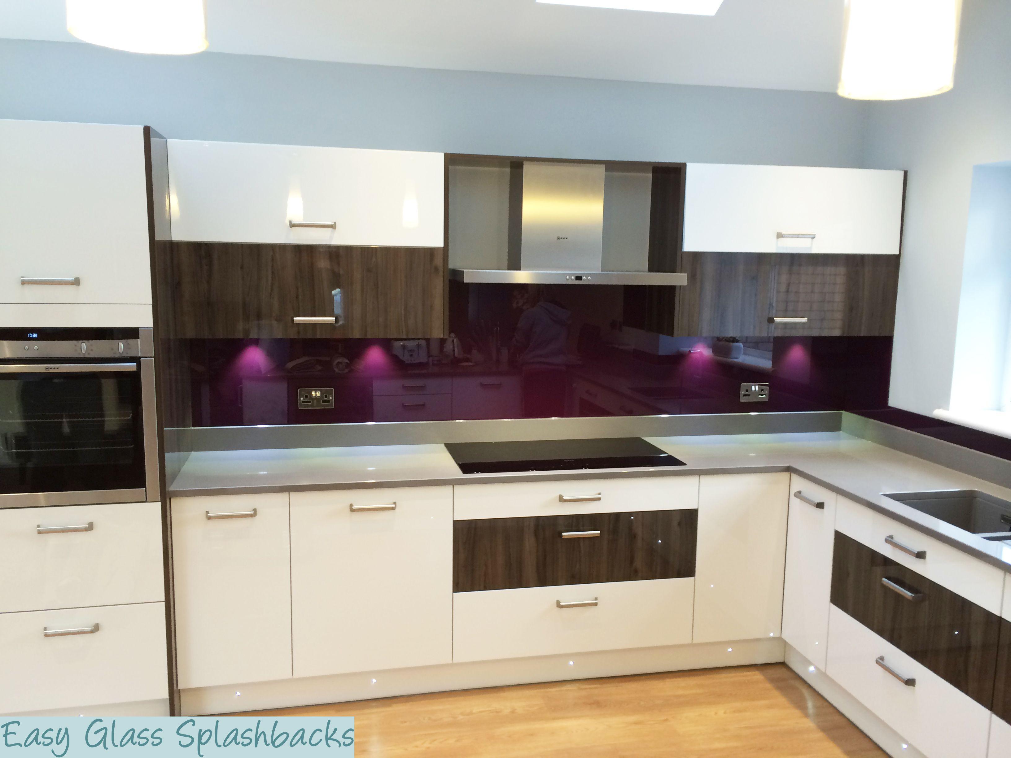 Gorgeous Purple Splashback Fitted By Easy Glass Splashbacks