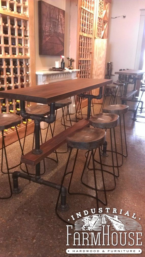 Commercial Dining Room Chairs Fascinating This Custom Made Bar Height Table Is Perfect For Tasting Rooms Decorating Design