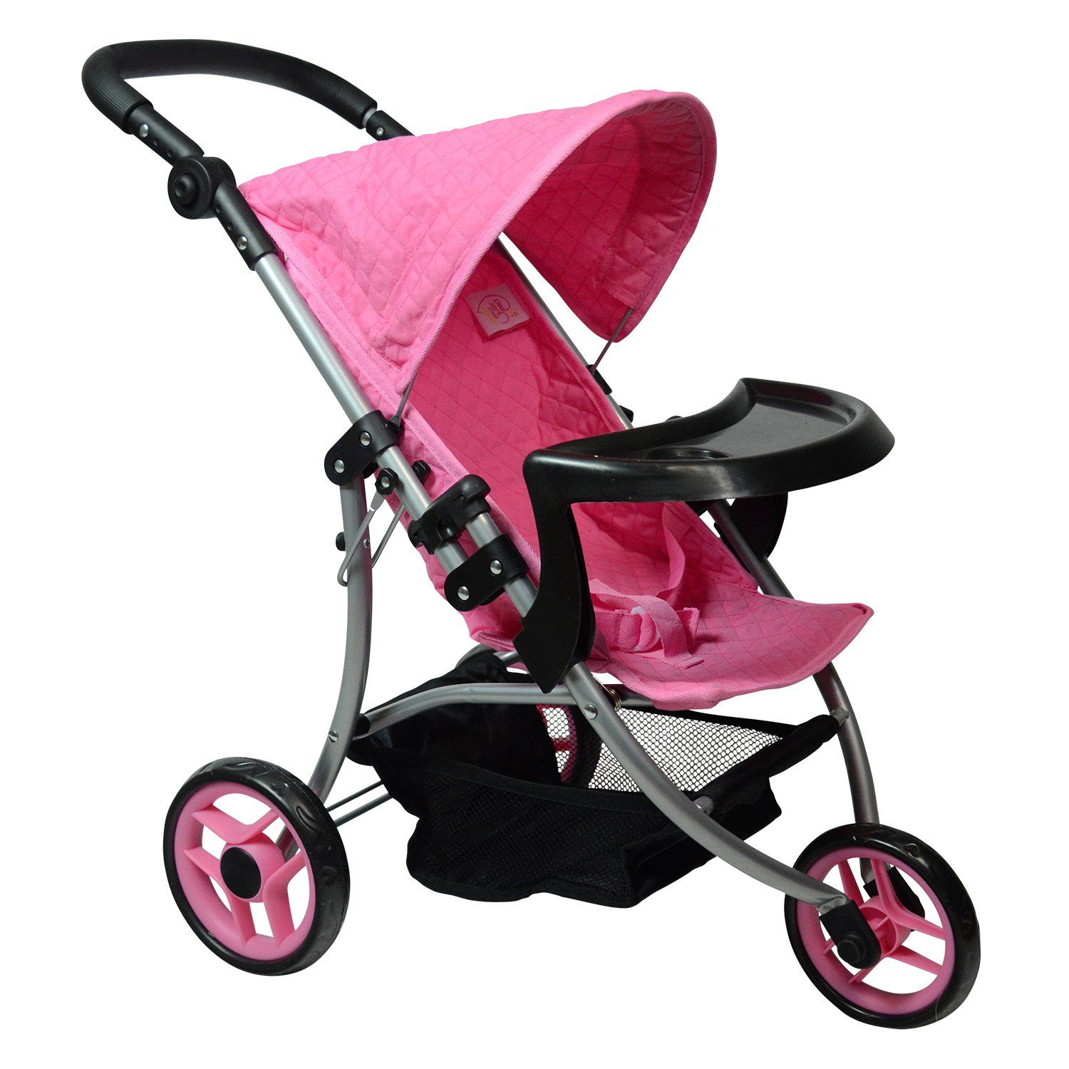 Modern Doll Jogging Stroller SUPERIOR QUALITY Quilted Fabric NEW LUXURY COLLECTION Ages 2