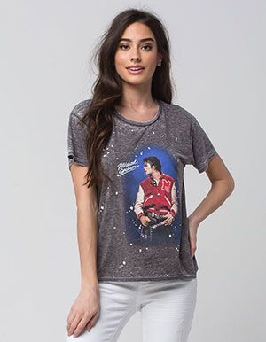 4c430170 JUNK FOOD Michael Jackson Womens Tee Black | Clothes | Graphic tank ...