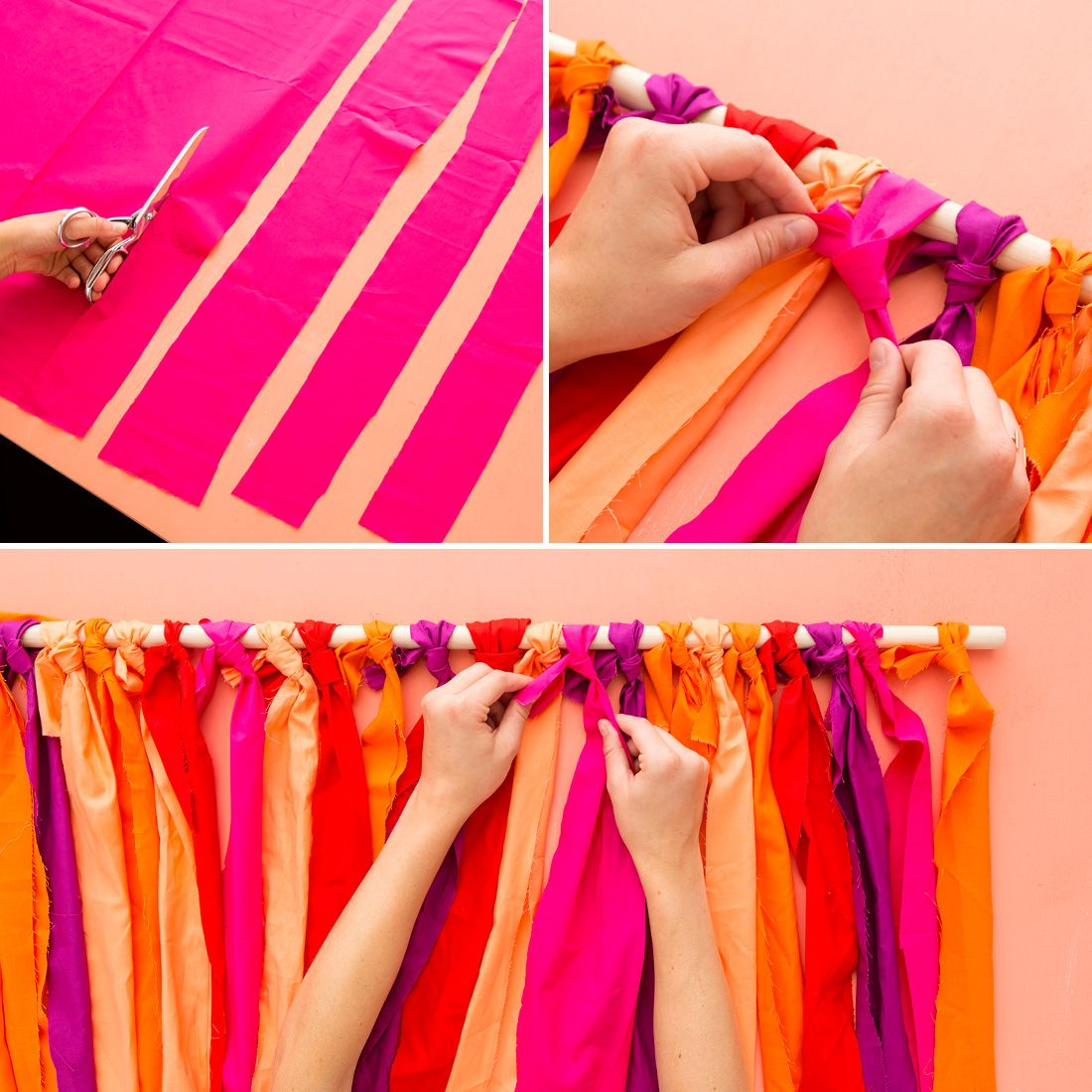 A Vibrant DIY Backdrop Is Just What All Your Party Photos
