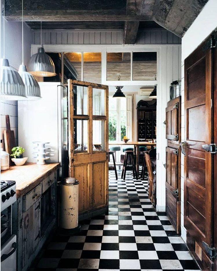 Checkered Kitchen Floor: Dagens Jättefint! #dagensinspo #härvilljagbo