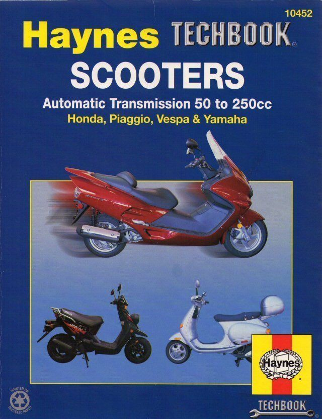 scooter repair manual honda piaggio vespa yamaha techbook parts rh pinterest com 150Cc Scooter Repair Manual Gas Motor Scooter Repair Manuals
