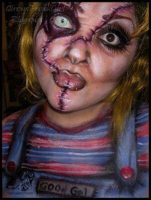 chucky  chucky makeup amazing halloween makeup girl