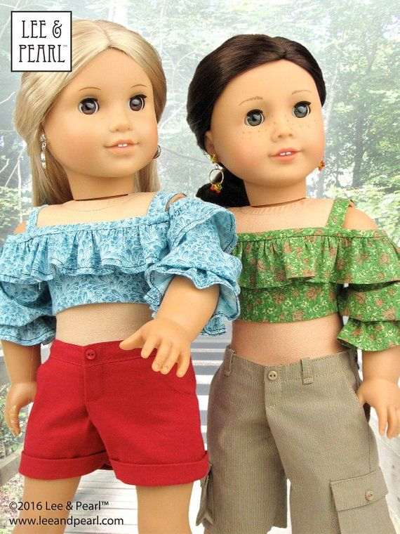 L&P 1035 Olá Brasil f the Shoulder Samba Top Bahia Dress and Brazilian Baiana Headwrap Pattern for 18 inch dolls such as American Girl