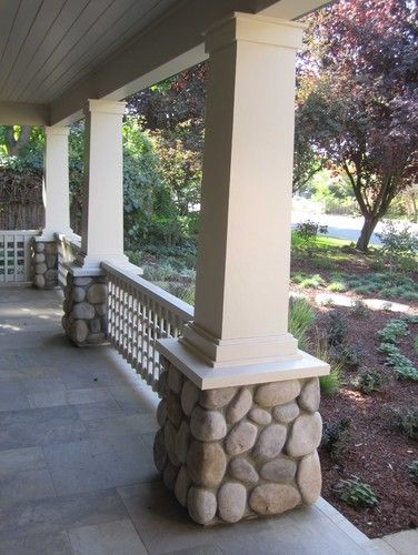 Nice Columns Stone Porches Front Porch Landscape Porch Pillars