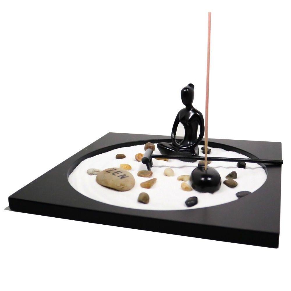 Details About Zen Garden Meditation Rocks Tealight Incense