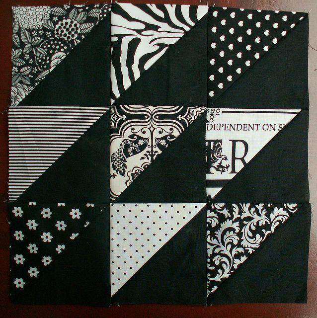 13 B&W block #7 by Alphenquilts, via Flickr