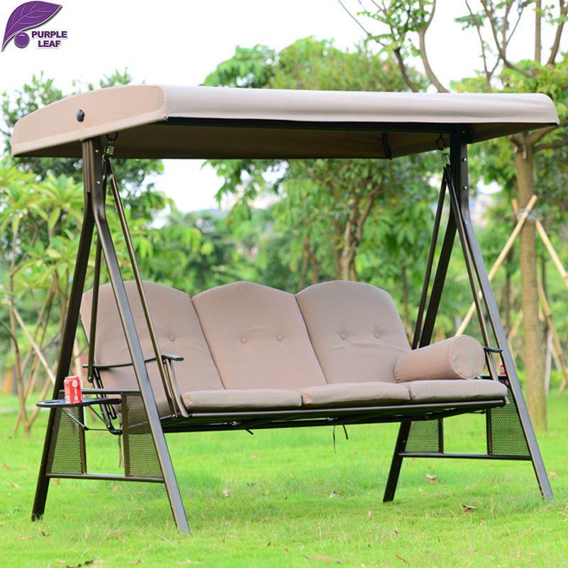 PurpleLeaf patio al aire libre columpio mecedora muebles de Alta ...