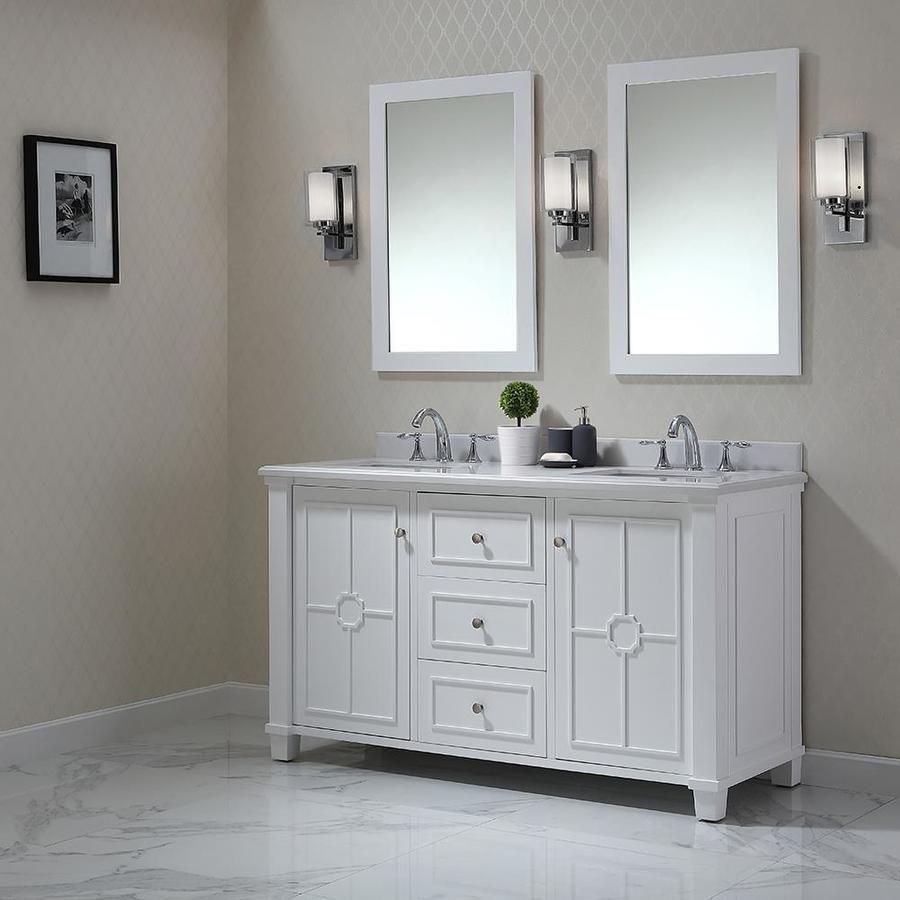 Double sink white bathroom vanities ove decors positano white undermount double sink bathroom vanity