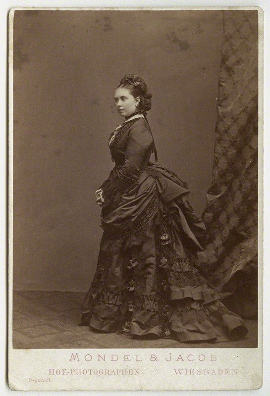 Victoria, Empress of Germany and Queen of Prussia   by Mondel & Jacobalbumen cabinet card, 18765 5/8 in. x 4 1/8 in. (144 mm x 104 mm) image size   © National Portrait Gallery, London