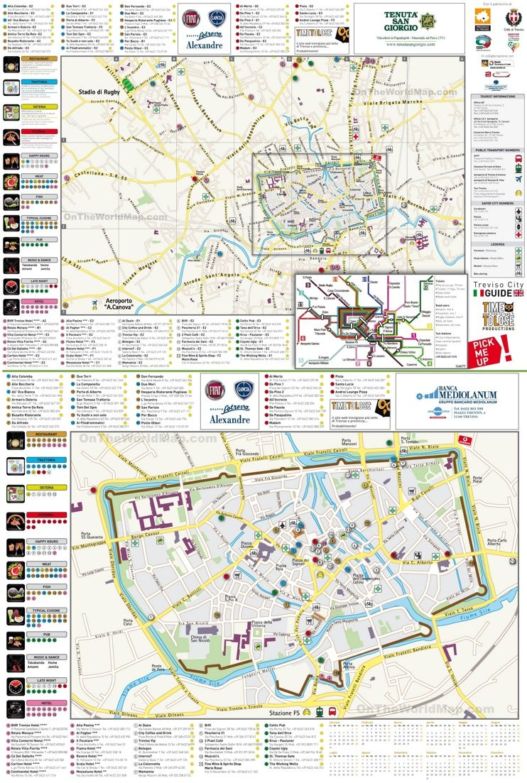 Treviso tourist map Maps Pinterest Tourist map Venice and Italy