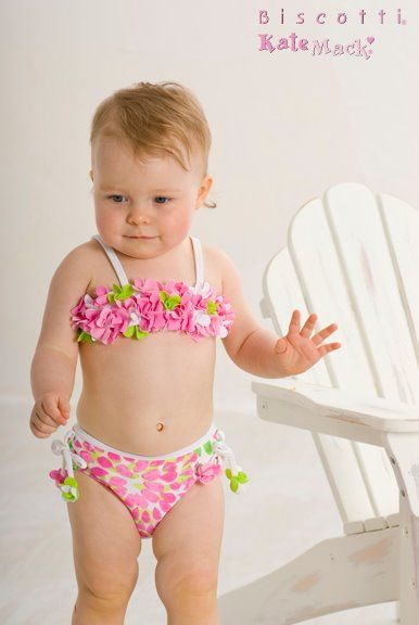 Kate Mack Girls Underwater Magic Shiny Bikini Sizes 4-10