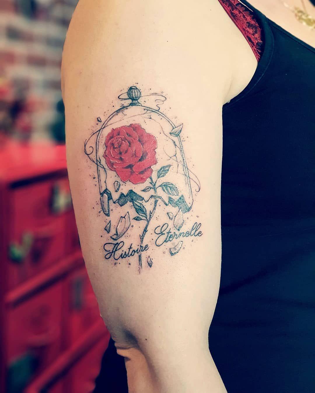 Rose Belle Et La Bete Dessin : belle, dessin, Épinglé, Abeline, Tatoo, Enchantée,, Belle, Bete,, Bête