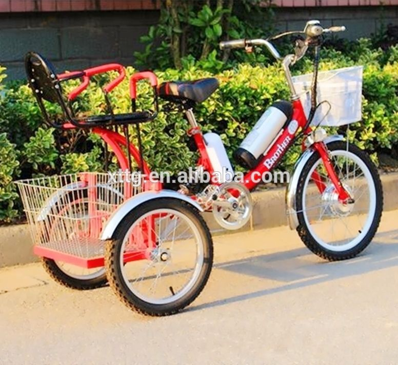 Three Wheel Electric Powered Bikes FOLDING ADULTS TRICYCLE ...