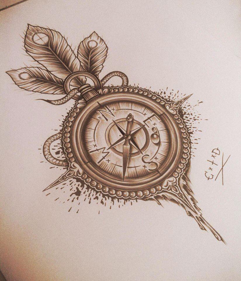 Boussole Tattoo