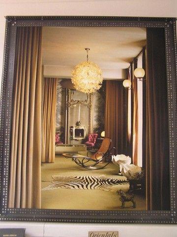 Carla Sozzani living room.