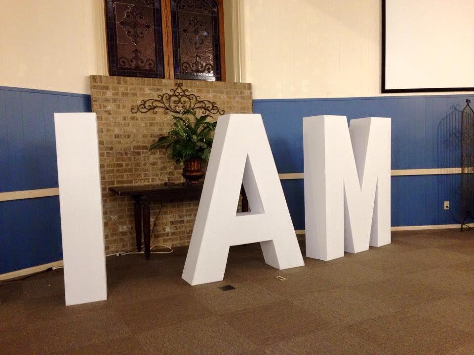 Diy huge 3d letters diy decor projects church decor
