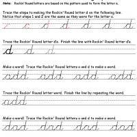 D Cursive Writing   Cursive writing worksheets, Worksheets ...