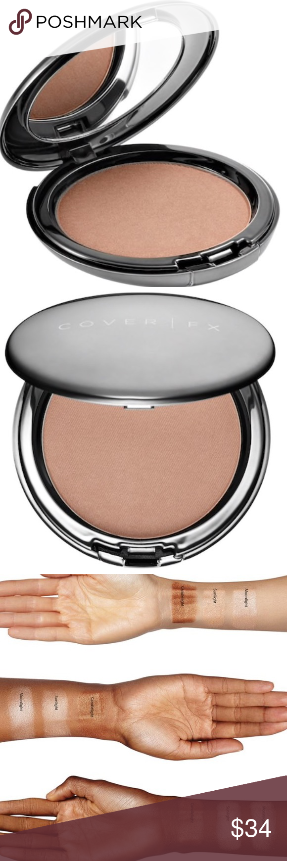Cover Fx The Perfect Light Highlighting Powder Color Sunlight Soft Gold Glow A Silky Talc Free Pressed Highli Cover Fx Makeup Cover Fx Perfect Lights