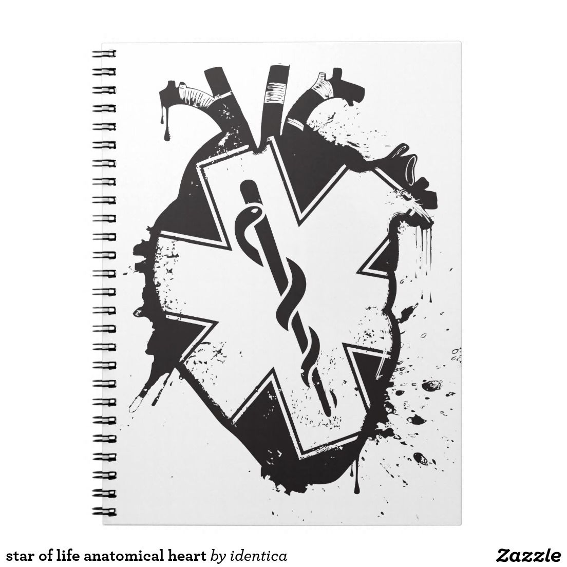 Star of life anatomical heart notebook anatomical heart star star of life anatomical heart ems tattoosmedical biocorpaavc Gallery