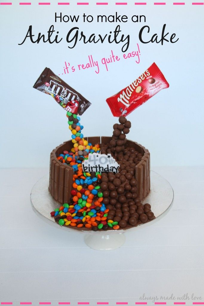 How To Make An Anti Gravity Cake #gravitycake