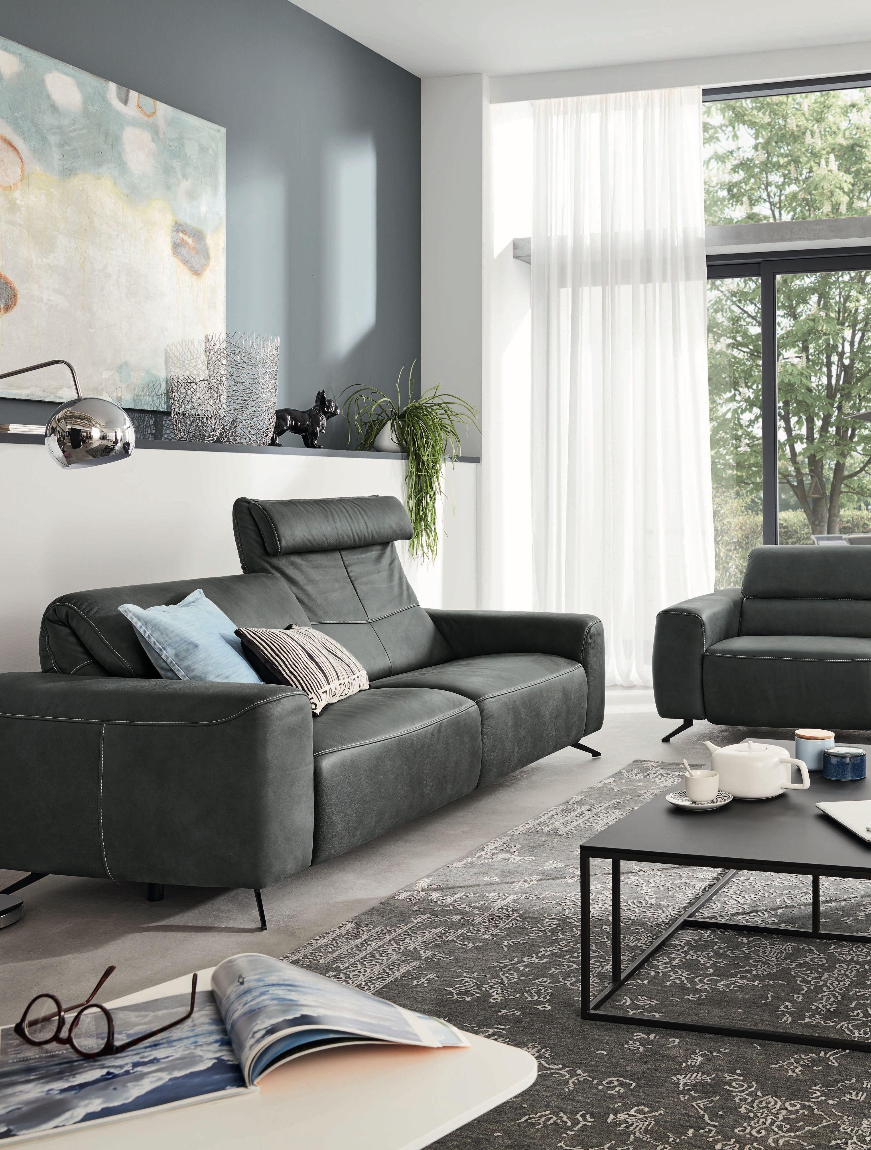 Lieblingssofa In Schwarzem Leder Wohnzimmer Einrichten Wohnzimmereinrichtung Mobel