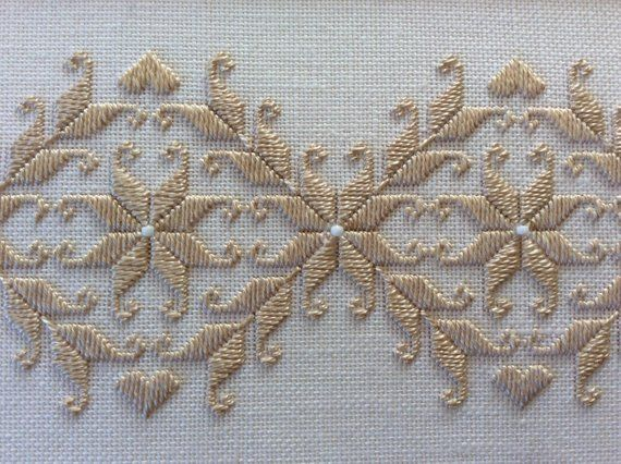 Pair of matted and framed Hardanger Embroidery needlework - #and #Embroidery #framed #Hardanger #matted #Needlework #Of #Pair