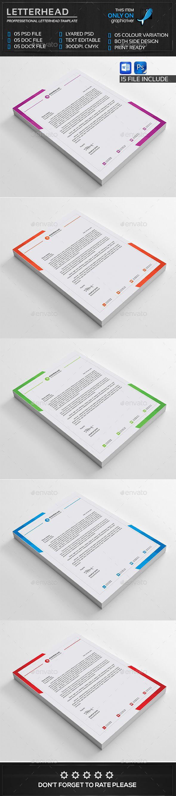 Corporate Letterhead - Stationery Print Templates | Letterhead ...