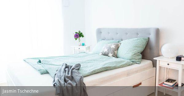 So Stylst Du Dein Ikea Brimnes Bett Muhelos Zum Unikat Diese Diy Anleitung Hilft Dir Mit Nur Wenig Aufwand Die Schubladen Mit Ein Brimnes Bett Zimmer Diy Bett