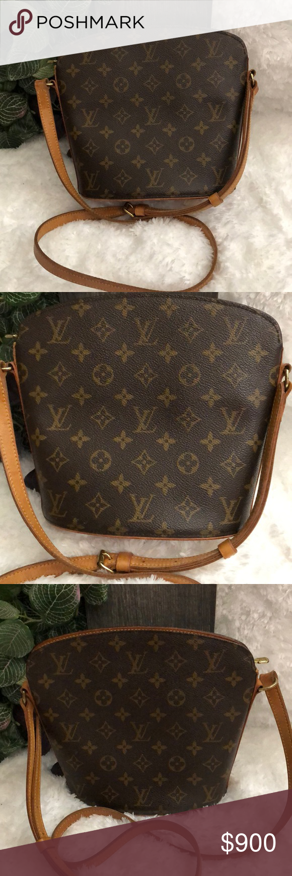 94b615dcdbca 100% Authentic Louis Vuitton Drouot Shoulder Bag 100% Authentic Vintage  Louis Vuitton (Retired